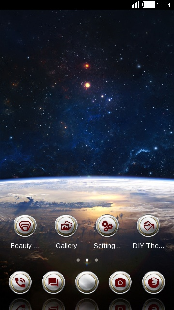 3D Earth Surface Launcher Theme