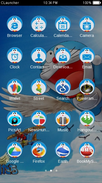 Download doraemon theme for your Android phone — CLauncher