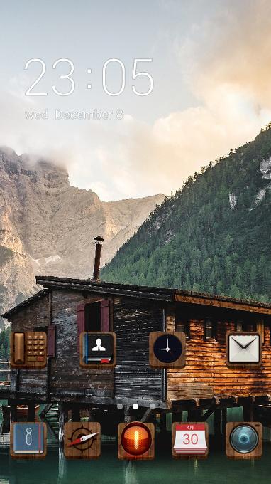 lakeside cabin theme