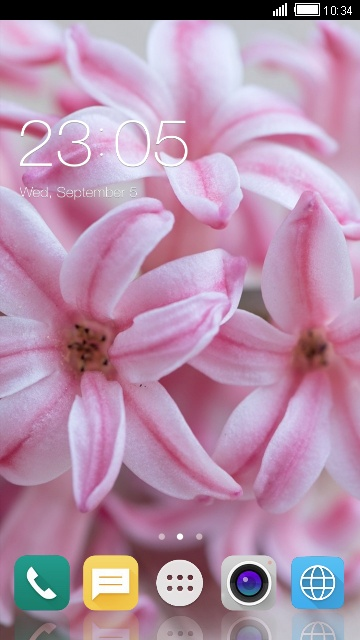 Theme for iBall Andi4P IPS Gem: Pink Flower LWP