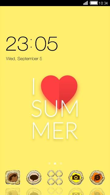 Neat Theme I Love Summer Wallpaper