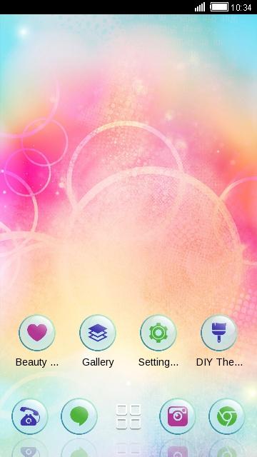 Abstract Theme Pink circle Wallpaper
