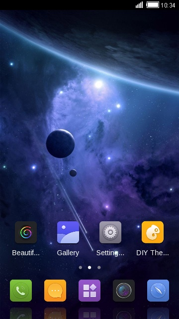 Theme for Sony Xperia M4 Aqua space wallpaper