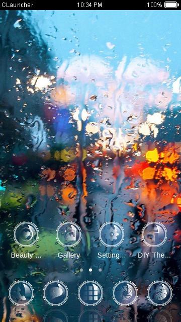 rain in window