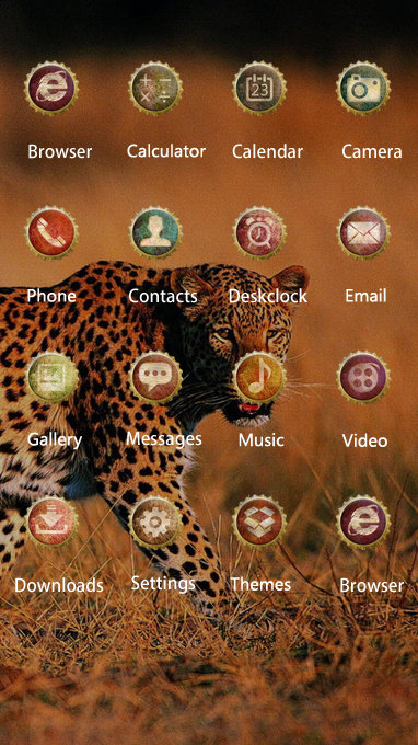 Pet animal theme leopard walking grass wallpaper