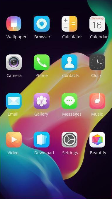 Oppo A1 theme free android theme – U launcher 3D