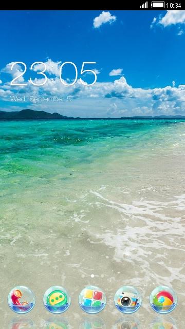 Summer theme: cool beach