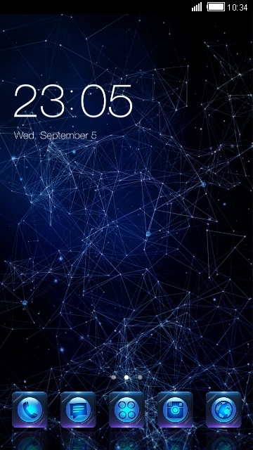 Galaxy 3D live wallpaper & night sky theme