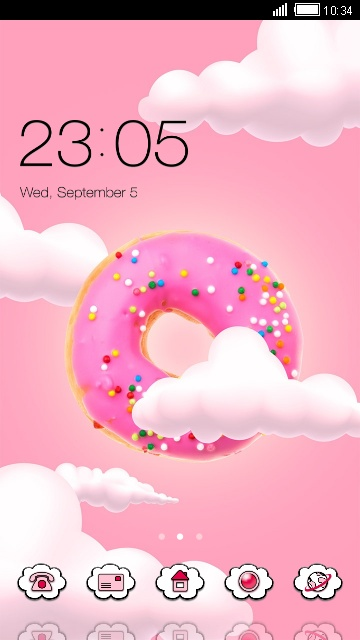 download cute kawaii theme pink donut wallpaper theme for your