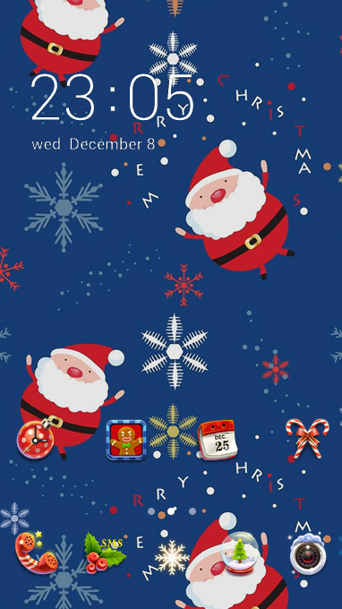 santa snow christmas
