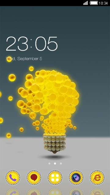 Abstract Theme Yellow Light Bulb Wallpaper
