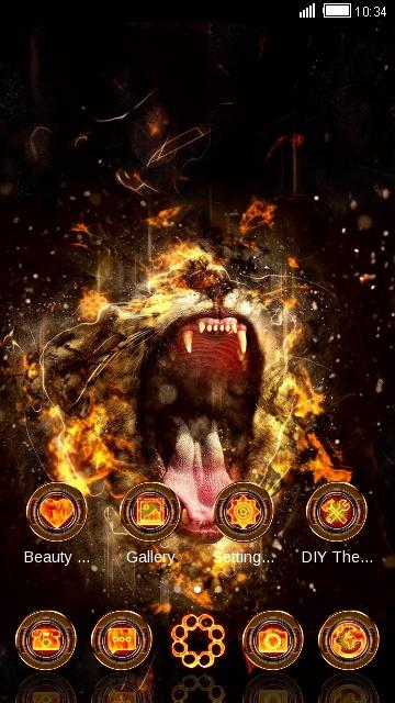 Fire Roaring Lion