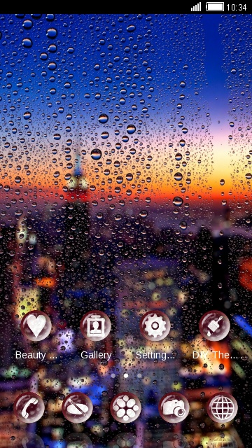 Raindrops Neon Night