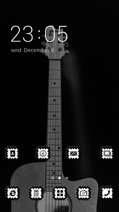 guitar art bw