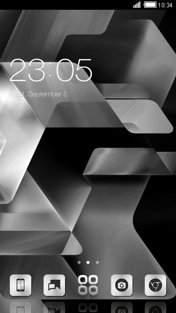Silver Black & White