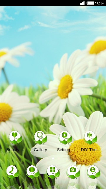 Nature Green Landscape Theme & Wallpaper