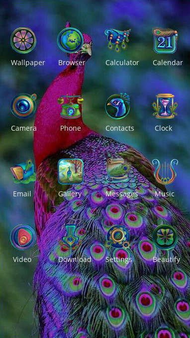 peacock theme