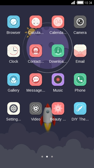 Rocket Launch free android theme – U launcher 3D