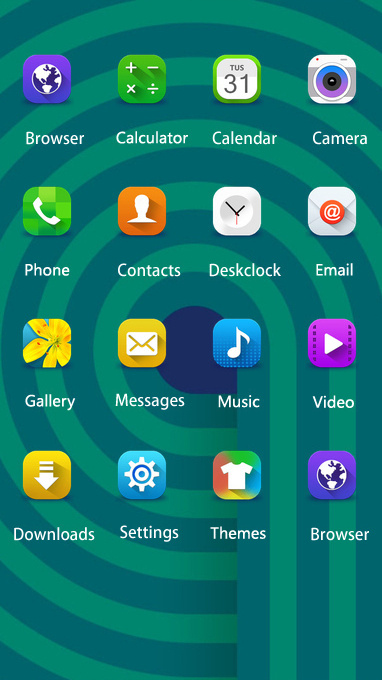Samsung j7 Prime free android theme – U launcher 3D