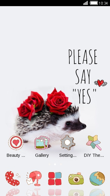 Red rose wallpaper cute Hedgehog theme