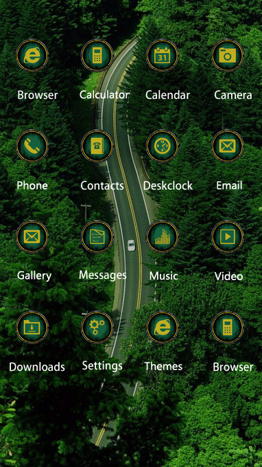 Nature theme free android theme – U launcher 3D