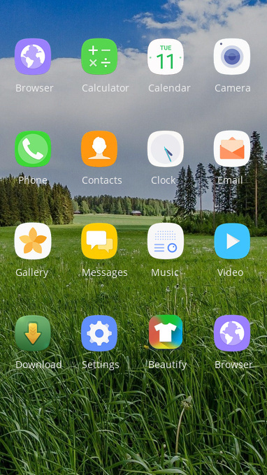 OPPO F9 Pro grass free android theme – U launcher 3D