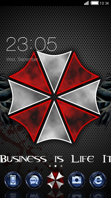 resident evil theme for your android phone clauncher