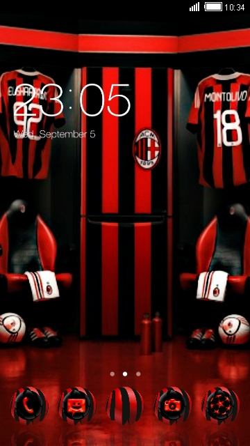 Download ac milan theme for your android phone clauncher ac milan voltagebd Images