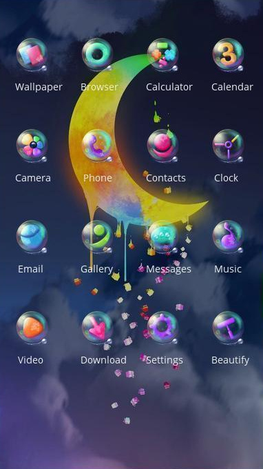 moon theme abstract