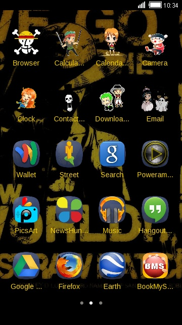 One Piece free android theme – U launcher 3D
