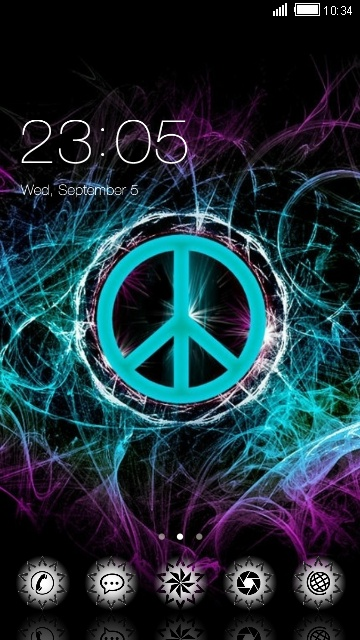 Download Peace Sign Theme For Your Android Phone CLauncher Best Download Images About Peace