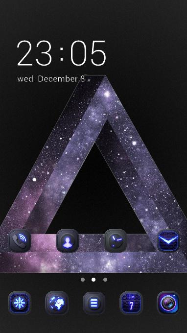 Fantasy theme triangle dark sci-fi wallpaper