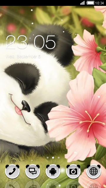 Cute Panda Free Android Theme U Launcher 3d