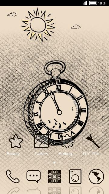 Drawn Clock