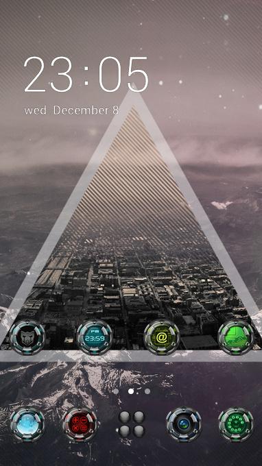 Fantasy theme triangle grass sci-fi wallpaper