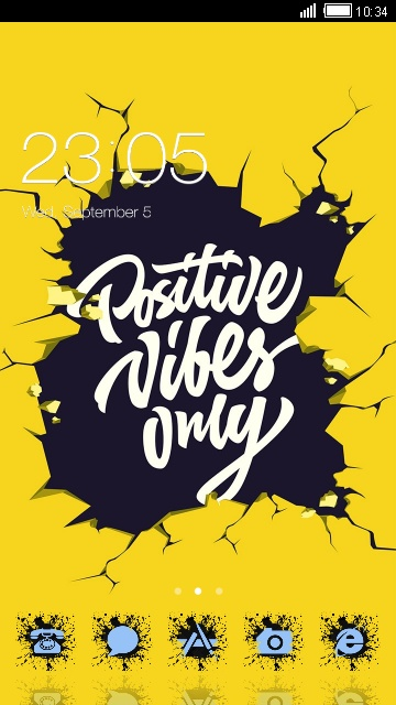 Inspiration quotes theme: Positive vibes Wallpaper