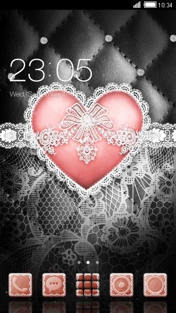White lace heart