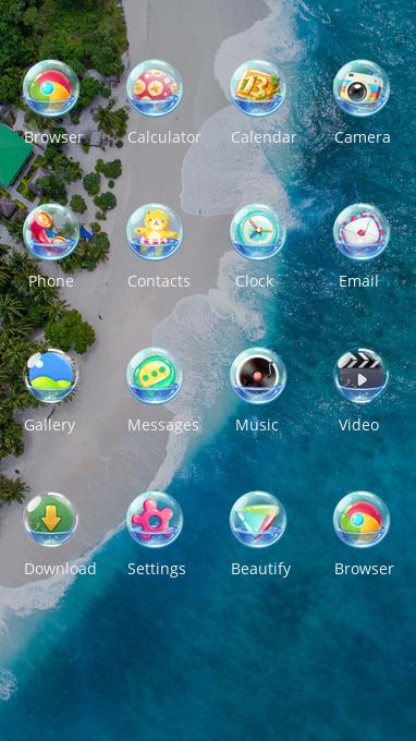 vivo v9 pro free android theme – U launcher 3D