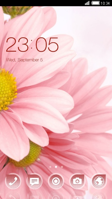 Download flower theme theme for your Android phone — CLauncher
