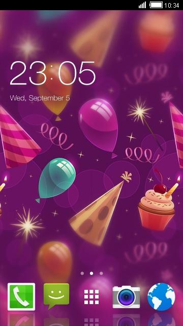 Happy Birthday Theme for Panasonic Toughpad FZ-F1