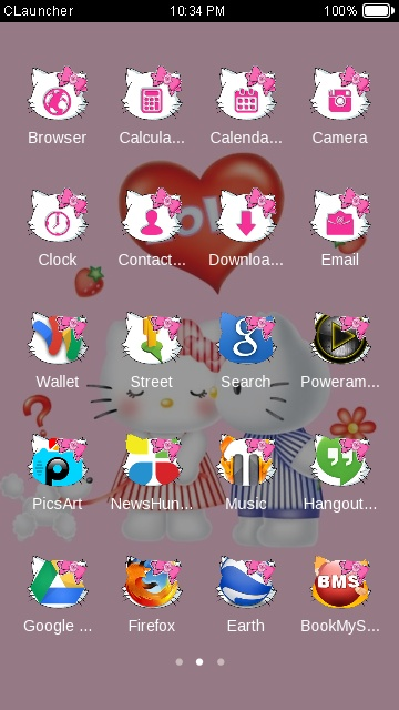 Charmmy kitty free android theme – U launcher 3D