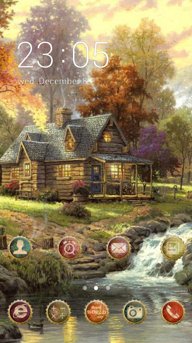 Nature theme landscape painting art wallpaper