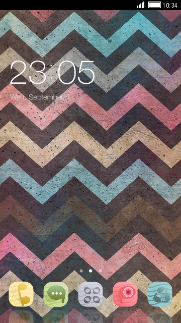 Kawaii Theme Colorful Chevron Wallpaper