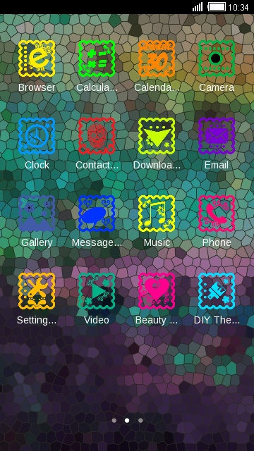 Colorful Fantasy theme: Color mix wallpaper