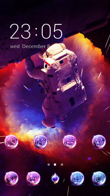 Deep space astronaut