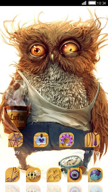 Cartoon Theme Cute Owl Wallpaper Hd Free Android Theme U