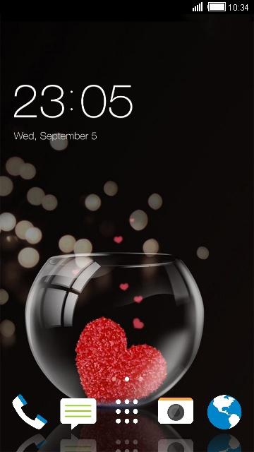 Theme for HTC Desire 826 Heart Wallpaper