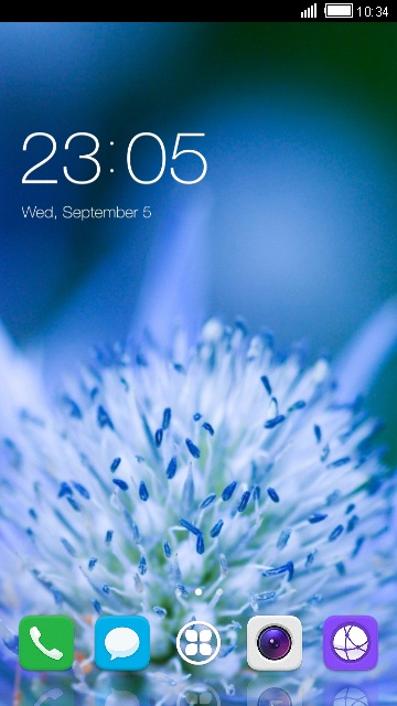 Theme for Huawei Y7 flower wallpaper