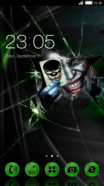 Joker Face Free Android Theme