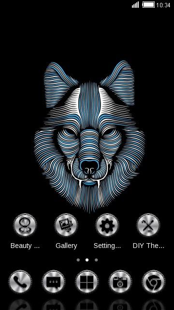 Abstract Animal : Wild wolf